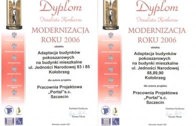 projekt osiedle budynków wielorodzinnych Maciejówka Kołobrzeg Konkurs Modernizacja Roku 2006