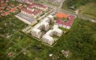 projekt osiedle 4 Ogrody ul. Duńska w Szczecinie I nagroda w konkursie deweloperskim 2007