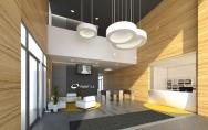 projekt budynek biurowy Warszawa wnętrze