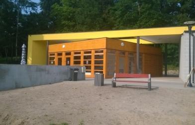 stanica wodna nad jeziorem Bobrowo Wielkie w Kaliszu Pomorskim lipiec 2014