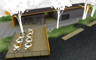 projekt stanica wodna nad jeziorem Bobrowo Wielkie w Kaliszu Pomorskim I nagroda w konkursie 2008