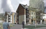 koncepcja zabudowy mieszkaniowej III nagroda w konkursie architektonicznym SM Odra Police 2004