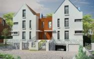 projekt zabudowa bliźniacza osiedle Warszewo ul. Kresowa w Szczecinie
