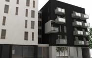 projekt budynek mieszkalno-usługowy w Kołobrzegu I nagroda w konkursie architektonicznym PSS Społem Jedność 2007