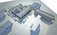 Projekt koncepcyjny hotelu z centrum konferencyjnym i budynku biurowego Crowne Plaza