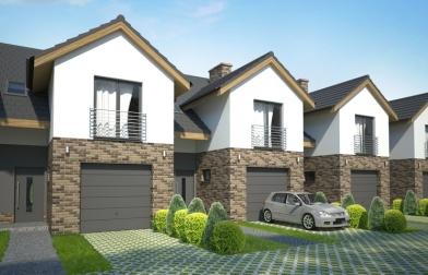 projekt osiedle budynków jednorodzinnych w zabudowie szeregowej Mierzyn
