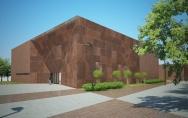 Gminny Ośrodek Kultury w Przecławiu - widok budynku głównego - front od strony parkingu