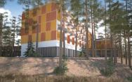 Koncepcja sanatorium z bazą zabiegową i basenem Augustów