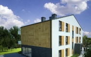 projekt budynek mieszkalny wielorodzinny z usługami w parterze